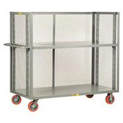 Little Giant® 3-Sided Adjustable Truck T2-A-3048-6PY, Mesh Sides, 30 x 48