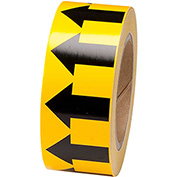 "Brady® 91420 Pipe Marker Arrow Tape, Vinyl, 2""W x 30 Yds., Yellow/Black"