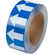 "Brady® 91423 Pipe Marker Arrow Tape, Vinyl, 2""W x 30 Yds., Blue/White"