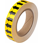 "Brady® 91424 Pipe Marker Arrow Tape, Vinyl, 1""W x 30 Yds., Yellow/Black"