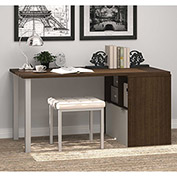 "Bestar® Wood Desk with Storage - 60"" - Medium Oak and Sandstone - i3 Series"