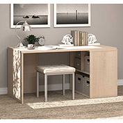 "Bestar® Wood Desk with Open Storage - 60"" - Northern Maple - i3 Series"