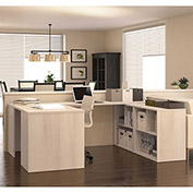Bestar i3 Series U-Shaped Desk in Northern Maple