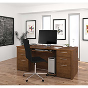 "Bestar® Executive Desk Kit - 71"" - Tuscany Brown - Embassy Series"
