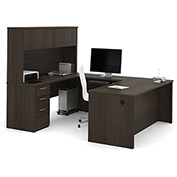 "Bestar® U-Shaped Desk - 71"" - Dark Chocolate - Embassy Series"