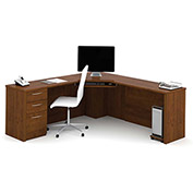 Bestar® Corner Desk - Tuscany Brown - Embassy Series