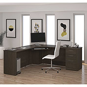 Bestar® Corner Desk - Dark Chocolate - Embassy Series