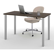 Bestar All-Purpose Worksurface Table Antigua With Square Metal Leg (Silver Finish)