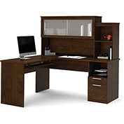 Bestar® L-Shaped Desk - Chocolate - Dayton Series