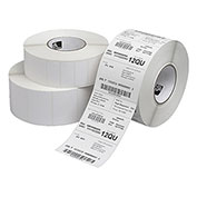 "Zebra 10000301 4"" W X 6"" L Dt Paper Label, Perforated 3"" Core, 8"" Od - Pkg Qty 4"