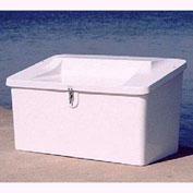 "Better Way Partners Outdoor Marine Seat Top Dock Box 500SEAT White - 50""L x 29""W x 29""H"