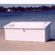 "Better Way Partners Outdoor Marine Seat Top Dock Box 600SEAT Gray - 72""L x 29""W x 29""H"