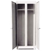 "Better Way Partners Marine Double Door Locker 87DPC White - 1 Locker with Vent 36""W x 24""D x 87""H"