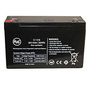 AJC® Lithonia ELB0608 (Battery) 6V 10Ah Emergency Light Battery