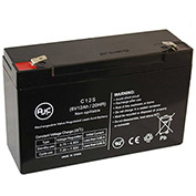 AJC® Lightalarms CE15BR 6V 12Ah Emergency Light Battery