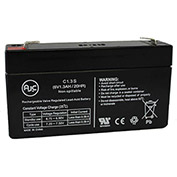 AJC® Sonnenschein A206/1.2U 6V 1.2Ah Emergency Light Battery