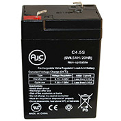 AJC® LightAlarms 5E1-5BL 6V 4.5Ah Emergency Light Battery