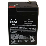 AJC®  PowerSonic PS-640F1 6V 5Ah Sealed Lead Acid Battery