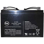 AJC® Wheelchairs of Kansas 100AH 12V 100Ah Wheelchair Battery