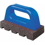 "6""L X3""WX 1""H Fluted Rub Bricks, Plastic Handle, 20 Grit"