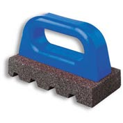 "Fluted Rub Bricks, 6""L X 3""W X 1""H, 60 Grit, Plastic Handle"