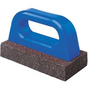 "Fluted Rub Bricks, 8""L X 3 1/2""W X 1 1/2""H, 20 Grit, Plastic Handle"