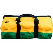 "24""L X 10""W X 11""H Mason Tool Bag , Green/Blue"