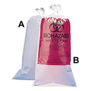 "Bel-Art Biohazard Disposal Bags, Plain, Non-Printed, 1-3 Gallon, 1.5 mil Thick, 12""W x 24""H, 100/PK"