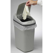 Bel-Art Touch Free™ Plastic Automatic Waste Can 132020020, 7.3 Gallon, Gray, 1/PK
