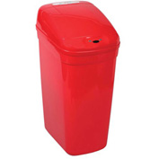 Bel-Art Touch Free™ Plastic Automatic Waste Can 132020022, 7.3 Gallon, Red, 1/PK