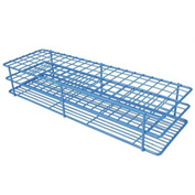 "Bel-Art Poxygrid® ""Rack And A Half"" Test Tube Rack, For 10-13mm Tubes, 120 Places, Blue, 1/PK - Pkg Qty 12"