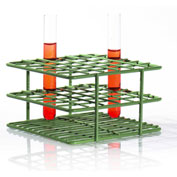 "Bel-Art Poxygrid® ""Half-Size"" Test Tube Rack, For 10-13mm Tubes, 36 Places, Green, 1/PK - Pkg Qty 24"