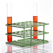"Bel-Art Poxygrid® ""Half-Size"" Test Tube Rack, For 15-16mm Tubes, 24 Places, Green, 1/PK - Pkg Qty 24"