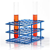 "Bel-Art Poxygrid® ""Half-Size"" Test Tube Rack, For 15-16mm Tubes, 24 Places, Blue, 1/PK - Pkg Qty 24"