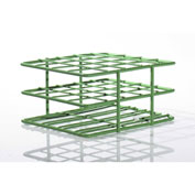 "Bel-Art Poxygrid® ""Half-Size"" Test Tube Rack, For 18-20mm Tubes, 20 Places, Green, 1/PK - Pkg Qty 24"