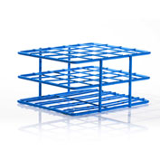 "Bel-Art Poxygrid® ""Half-Size"" Test Tube Rack, For 18-20mm Tubes, 20 Places, Blue, 1/PK - Pkg Qty 24"