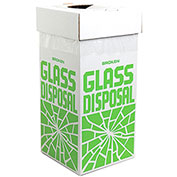 "Bel-Art F24653-0001 Broken Glass Disposal Box, Floor Model, 12""W x 12""D x 27""H, 6/PK - Pkg Qty 10"