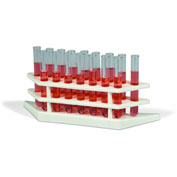 Bel-Art Tiered Test Tube Rack 188620000, Polypropylene, For 10-14mm Tubes, 16 Places, White, 1/PK - Pkg Qty 24