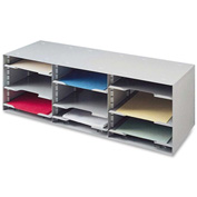 Buddy Products Desktop Organizer with 12 Compartments Platinum