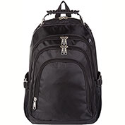 "Bugatti BKP101 Nylon Backpack, 15.6"" Computer Case, Black"