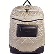 """Bugatti BKP22101 Quilted Ladies Computer Backpack, 6""""W x 16.5""""H x 12.5""""L, Beige"""