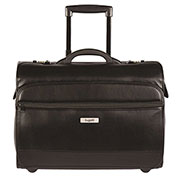 Bugatti BZCW933 Synthetic Leather Business Case on Wheels, Black