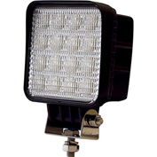 Buyers LED Square Clear Flood Light 12-48VDC - 16 LEDs - 1492128