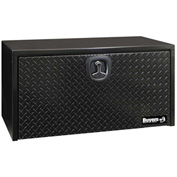 Buyers Steel Underbody Truck Box W/ Diamond Tread Aluminum Door - Black 18x18x30 - 1702503