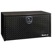 Buyers Steel Underbody Truck Box W/ Diamond Tread Aluminum Door - Black 18x18x36 - 1702505