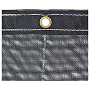 Buyers Black Mesh Roll-Off Container Tarp, Manual, 12 Ft. x 26 Ft. - 3016006