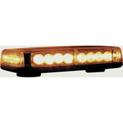 Buyers LED Rectangular Amber Mini Lightbar 12VDC - Magnetic 24 LEDs - 8891040