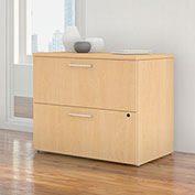"Bush Furniture 36""W 2 Drawer Lateral File Cabinet - Natural Maple - 400 Series"