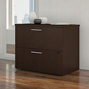 "Bush Furniture 36""W 2 Drawer Lateral File Cabinet - Mocha Cherry - 400 Series"