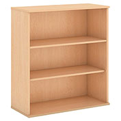 "Bush® 48""H 3 Shelf Bookcase Natural Maple"